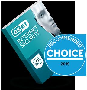 ESET Internet Security Choice award box