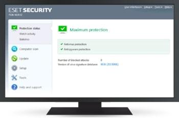 ESET Security for Kerio képernyőkép