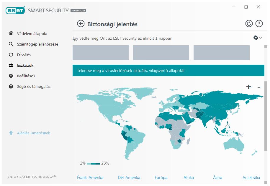 ESET Smart Security Premium - Biztonsági jelentés a vírusfertőzések aktuális, világszintű állapotáról