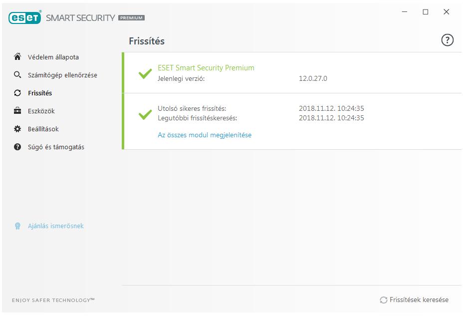 ESET Smart Security Premium - Frissítés