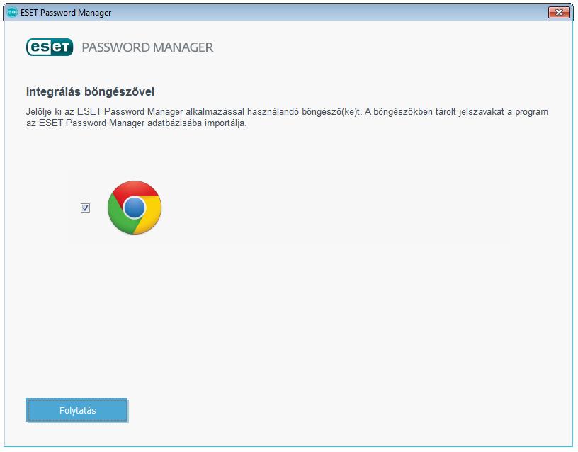 ESET Smart Security Premium - Password Manager: Integrálás böngészővel