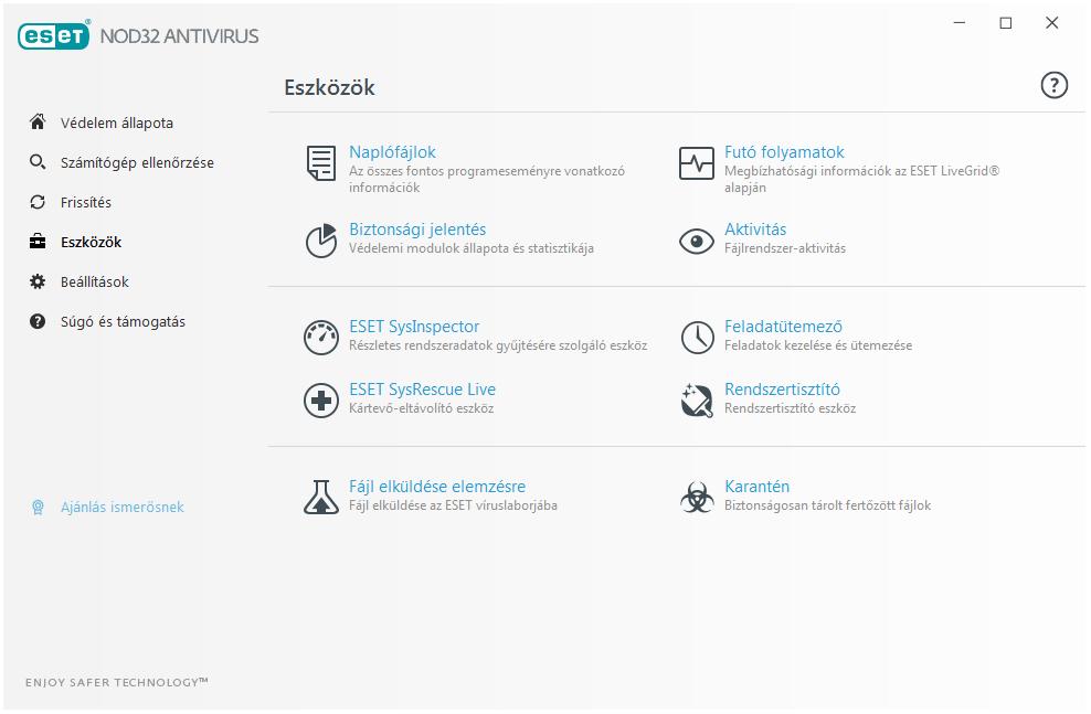 ESET NOD32 Antivirus - Eszközök