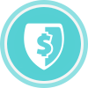 Ransomware shield icon