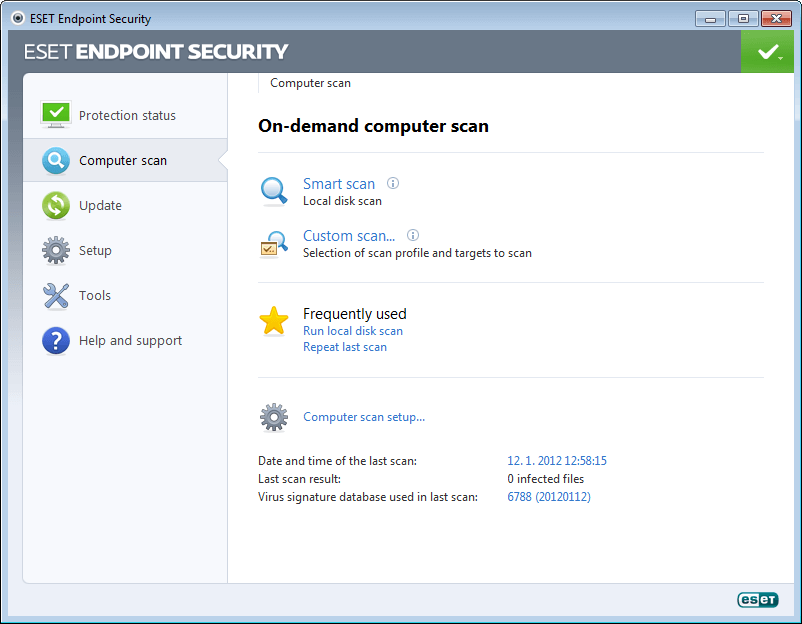 ESET Endpoint Security for Windows 5 - Computer Scan