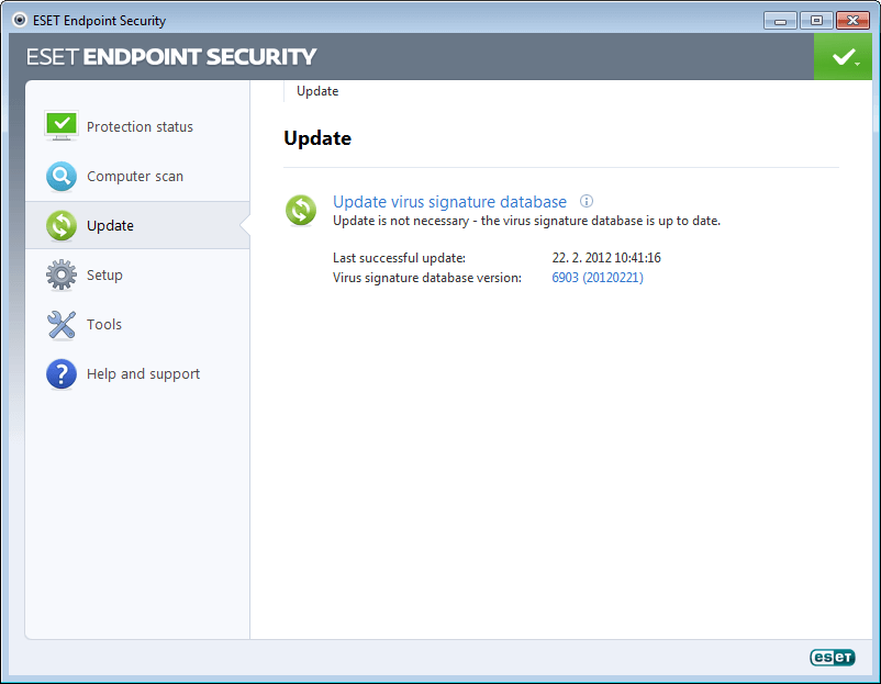 ESET Endpoint Security for Windows 5 - Update