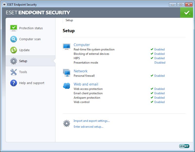 ESET Endpoint Security for Windows 5 - Setup
