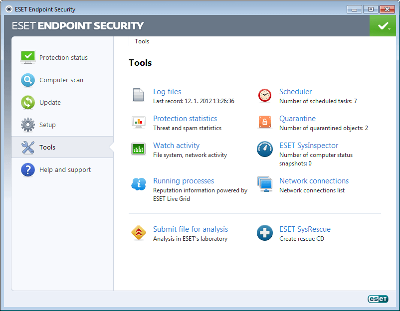 ESET Endpoint Security for Windows 5 - Tools