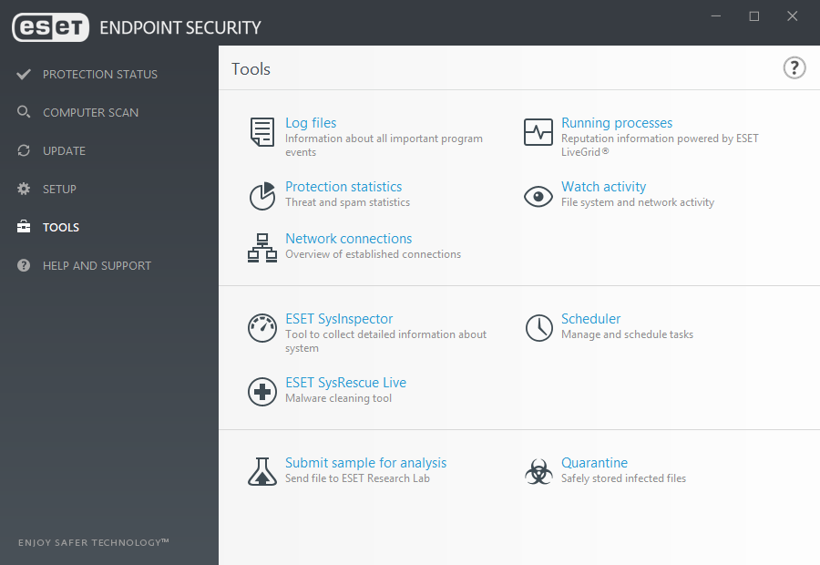 ESET Endpoint Security for Windows - Tools