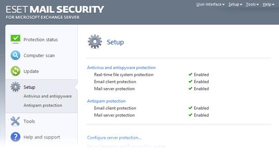 ESET Mail Security for Microsoft Exchange Server - Setup