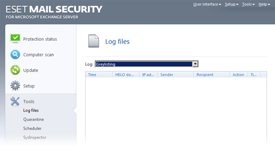 ESET Mail Security for Microsoft Exchange Server - Tools/Log files