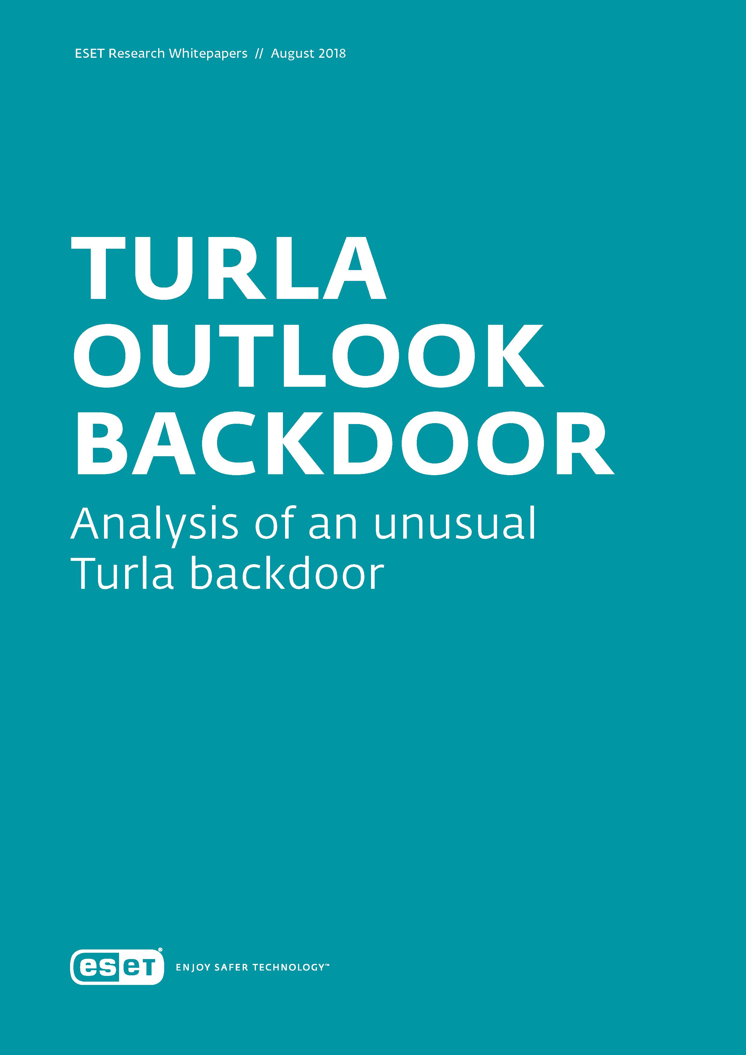 Turla Outlook Backdoor | ESET
