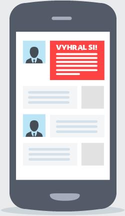 Pri kliknutí na odkaz v e-maili alebo v chate