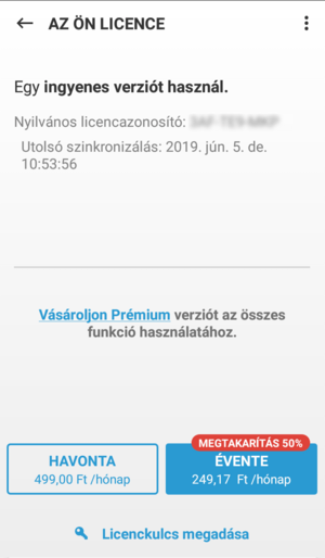 ESET Mobile Security for Android - ingyenes licenc