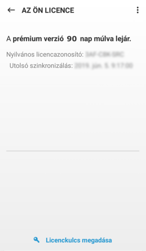 ESET Mobile Security for Android - Az Ön licence