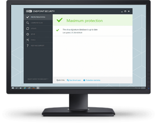 Endpoint protection screen